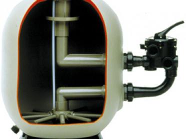 Intérieur filtre à sable